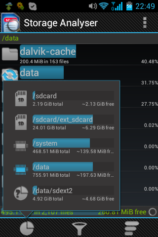 Android Storage Analyser application